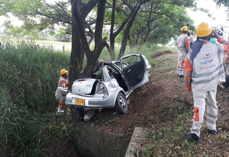 Accidente Variante Flandes arbol