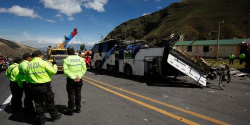 Accidente Bus Colombiano en Ecuador